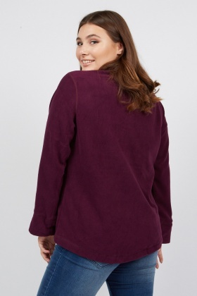 Fleeced Zipped Jumper