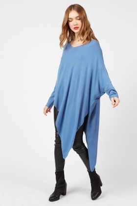 Asymmetric Long V-Neck Top