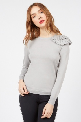 Cut Out Shoulder Knitted Top