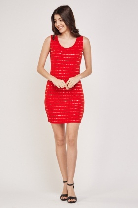 Encrusted Textured Bodycon Dress