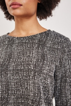 Knitted Textured Speckled Top