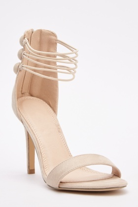 Elasticated Strappy Heeled Sandals
