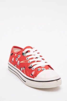 Sushi Printed Low Top Trainers