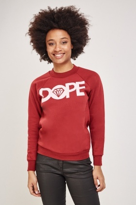 Logo Front Speckled Sweatshirt