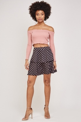 Star Printed Layered Skirt
