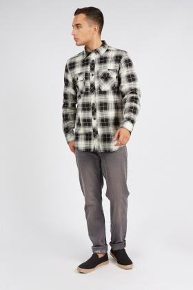 Plaid Mono Checked Shirt