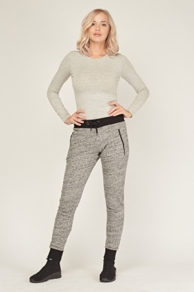 Casual Speckled Jogger Pants