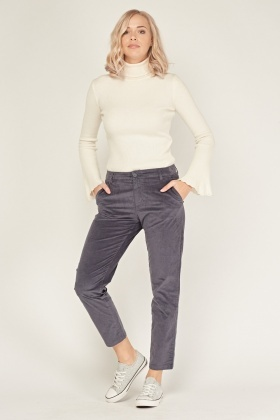 Skinny Fit Corduroy Trousers