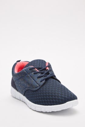 Contrast Perforated Trainers