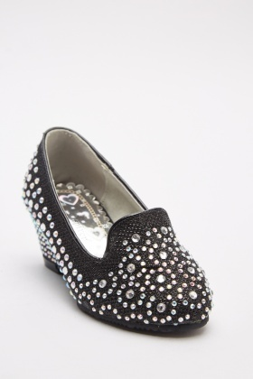 Encrusted Wedge Flats