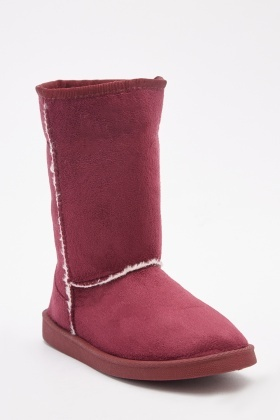 Faux Sheepskin Style Winter Boots
