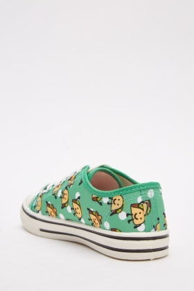 Green Printed Trainers