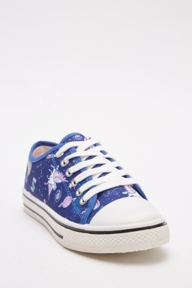 Multi Printed Low Top Trainers