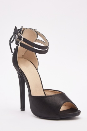 Twin Ankle Strap Heeled Sandals