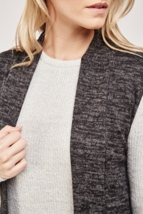 Sleeveless Thin Speckled Cardigan