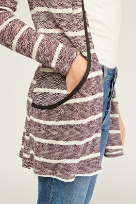 Textured Striped Cardigan