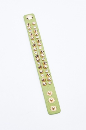 Studded Spiked Wrist Strap