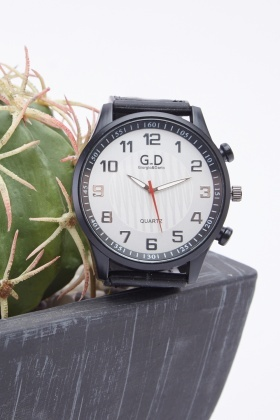Chunky Face Faux Leather Strap