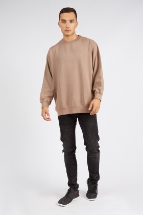 Taupe Mens Sweater