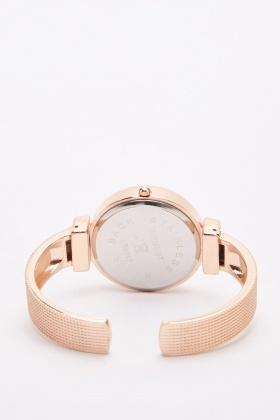 Detailed Metal Bangle Watch