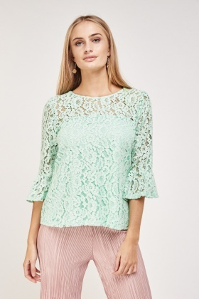 Flute Lace Sleeve Top