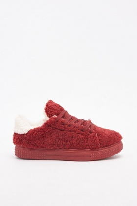 Fluffy Low Top Trainers