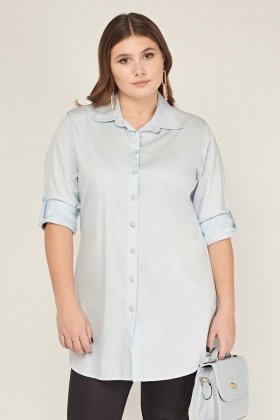 Light Blue Long Casual Shirt