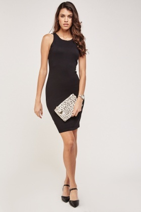 Laced Cut Out Back Knitted Dress