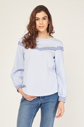 Striped Mixed Panel Shirt