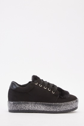 Suedette Contrast Trainers