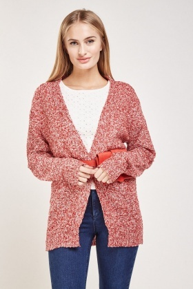 Loose Knit Speckled Cardigan