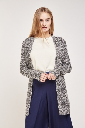 Loose Speckled Knit Cardigan