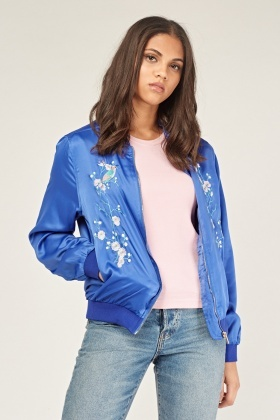 Oriental Embroidered Sateen Jacket