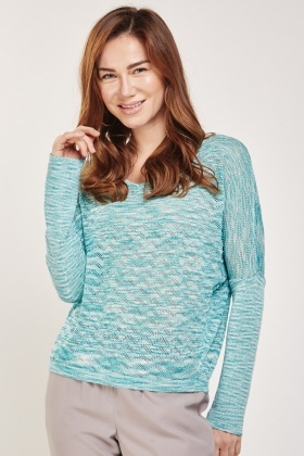 Metallic Zig-Zag Pattern Knit Top