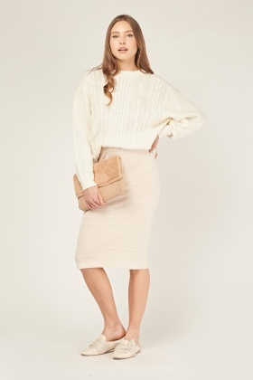Ribbed Knit Tube Skirt