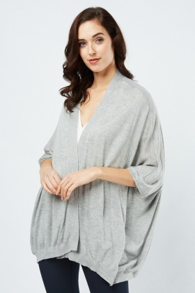 Slouchy Speckled Knit Cardigan