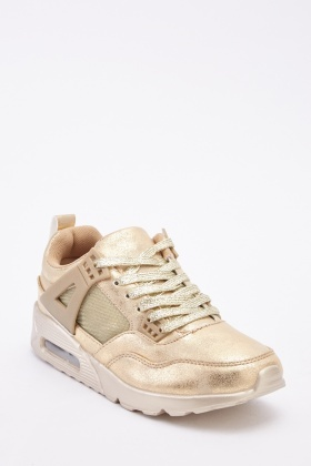 Metallic Low Top Womens Trainers