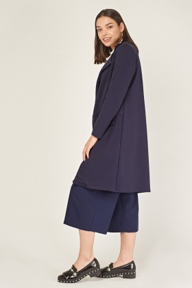 Navy Long Cluster Jacket