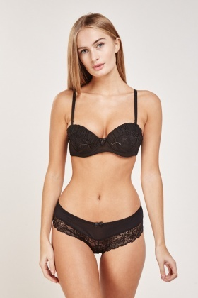 Balconette Bra And Brazilian Brief Set