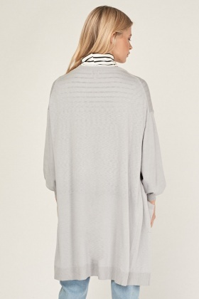 Long Thin Knit Cardigan