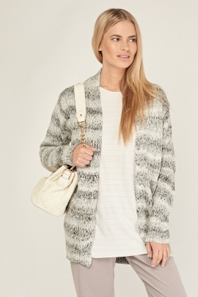 Metallic Speckled Knit Cardigan