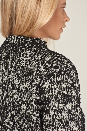 Speckled Thick Loose Knit Cardigan