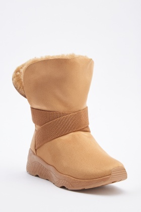 Suedette Strappy Ankle Boots