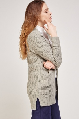 Basic Cable Knit Cardigan