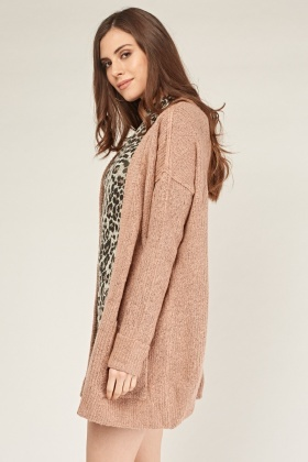 Double Pockets Front Knit Cardigan