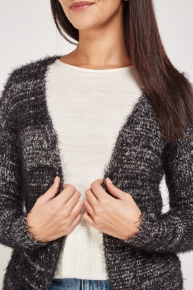 Eyelash Waterfall Knitted Cardigan