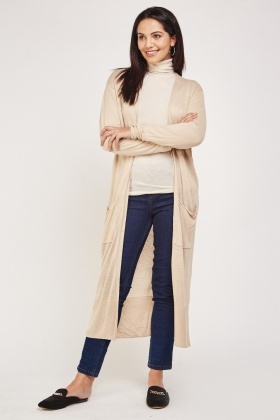 Long Open Front Casual Cardigan