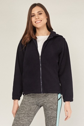 Poly-Fleeced Hooded Jacket