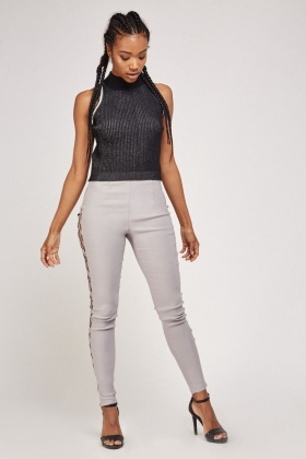 Lace Up Side Skinny Trousers