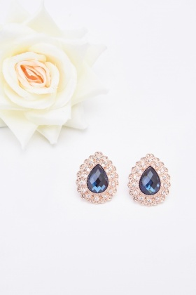 Diamante Encrusted Stud Earrings